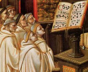 monjes cantando