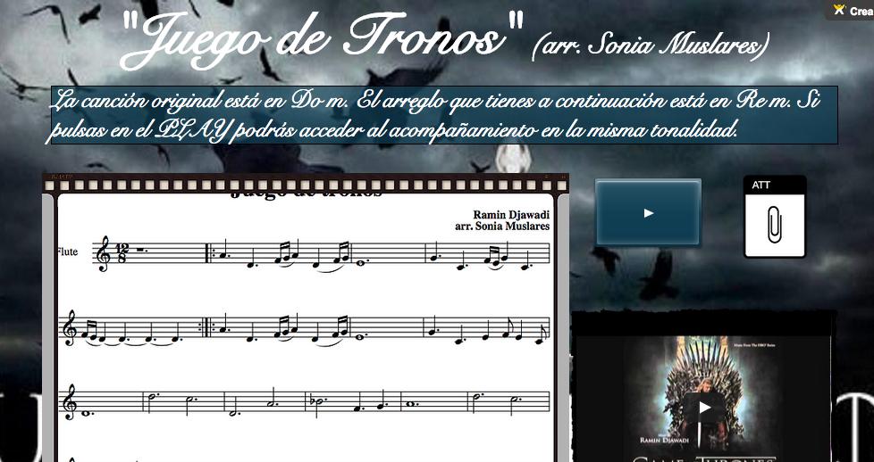 Wix Juego De Tronos El Poder De La Musica